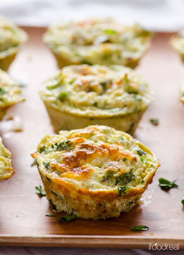 Easy Healthy Egg Breakfast  Quinoa Egg Muffins with Broccoli iFOODreal Healthy