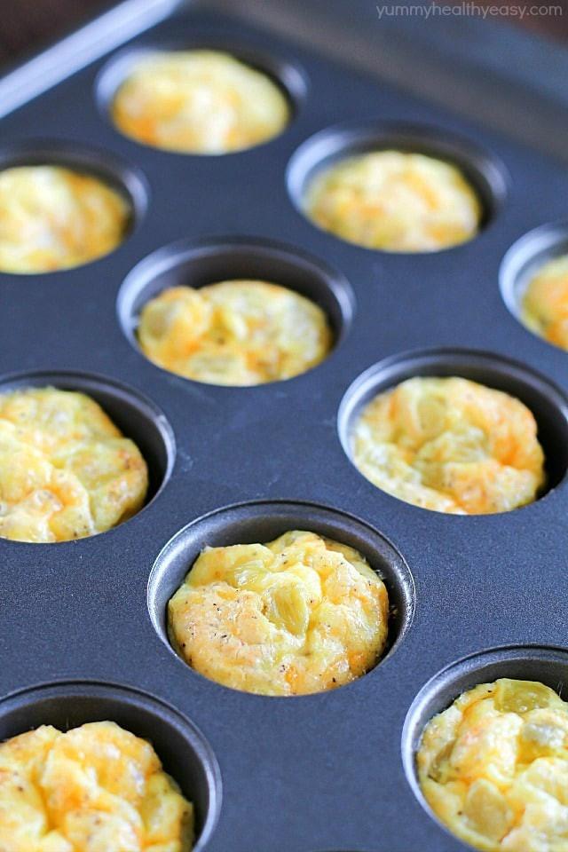 Easy Healthy Egg Breakfast  Mini Egg Cups A Healthy Make Ahead Breakfast Yummy