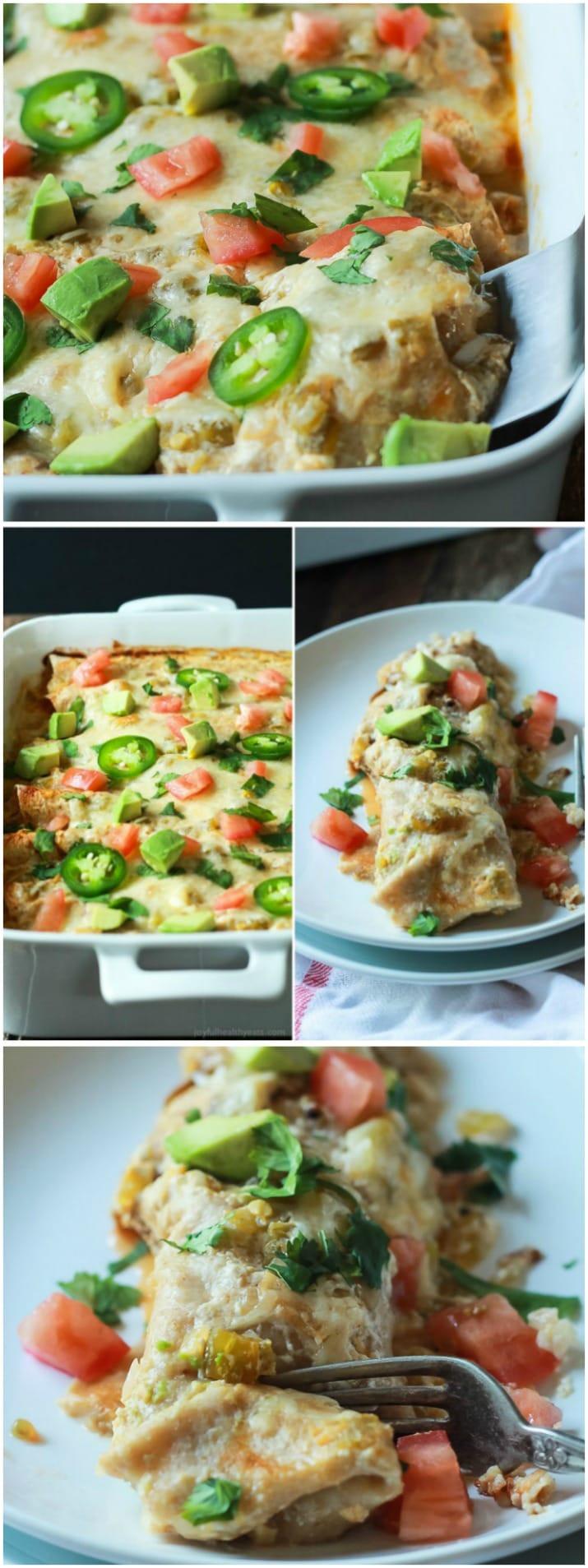 Easy Healthy Enchiladas  Easy Chicken Enchilada Recipe with Creamy Green Chili