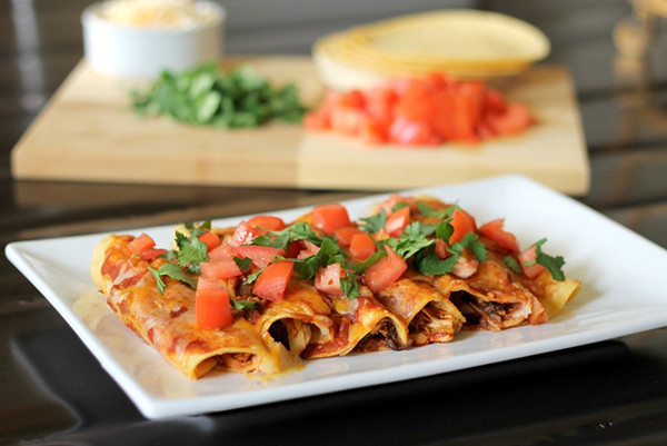 Easy Healthy Enchiladas  Quick and Healthy Chicken Enchiladas Recipe Home Cooking
