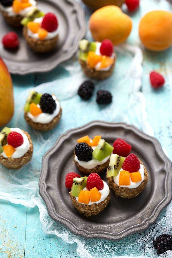 Easy Healthy Fruit Desserts  No Bake Healthy Breakfast Fruit Tarts Chelsea s Messy