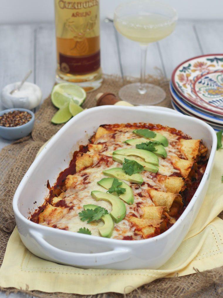 Easy Healthy Gluten Free Recipes  Gluten Free Chicken and Butternut Squash Enchiladas