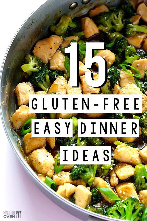 Easy Healthy Gluten Free Recipes  15 Gluten Free Easy Dinner Ideas