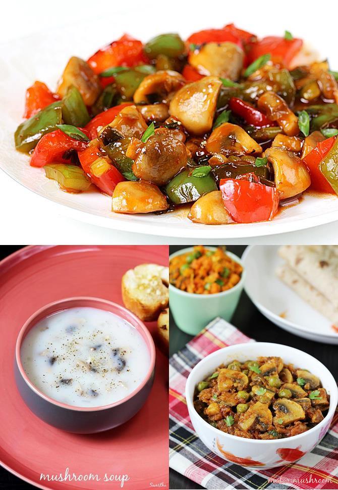 Easy Healthy Indian Recipes  Mushroom recipes