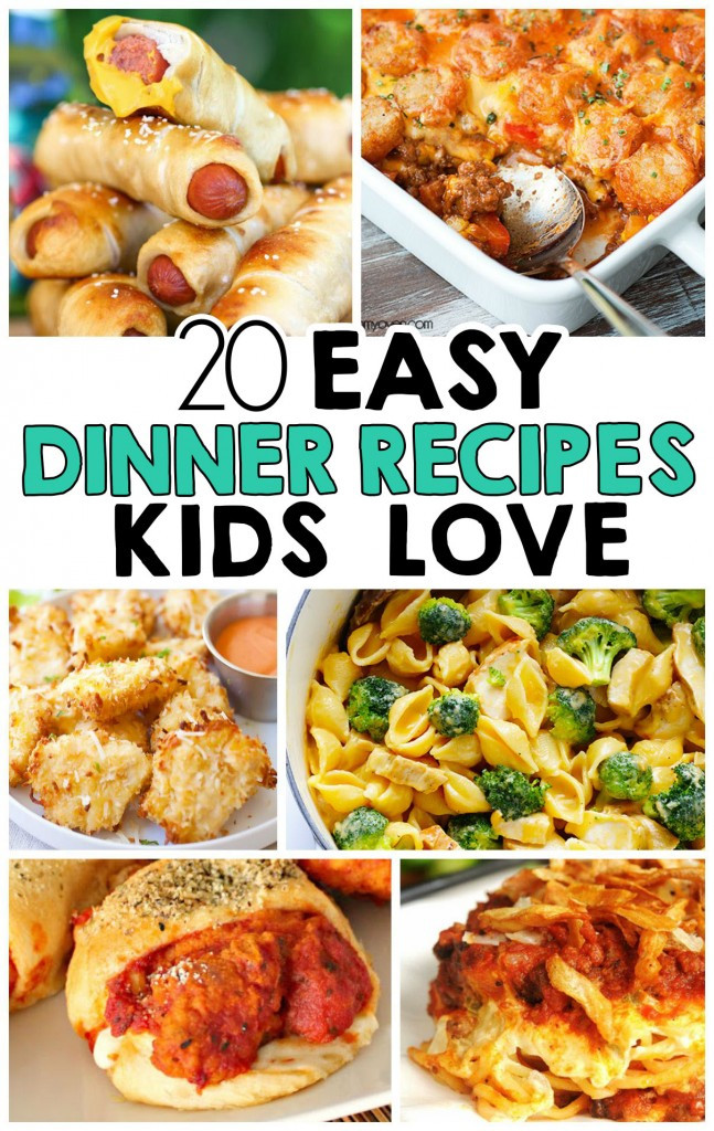 Easy Healthy Kid Dinners  20 Easy Dinner Recipes That Kids Love I Heart Arts n Crafts