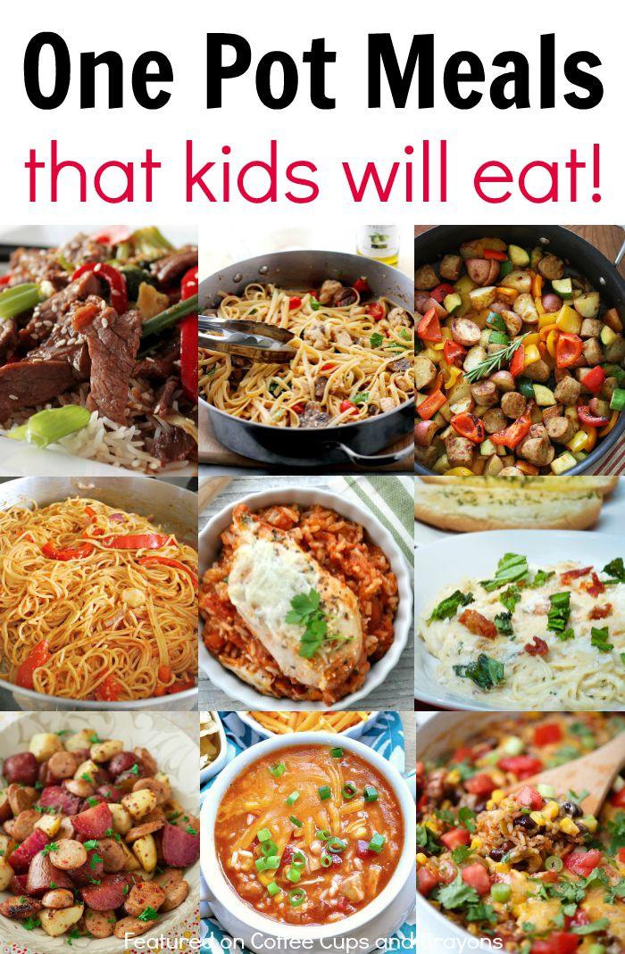Easy Healthy Kid Dinners  Kid Friendly e Pot Meals