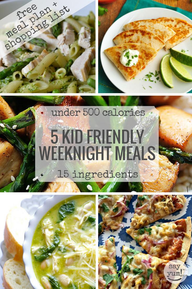Easy Healthy Kid Dinners  5 kid friendly easy spring weeknight dinners under 500