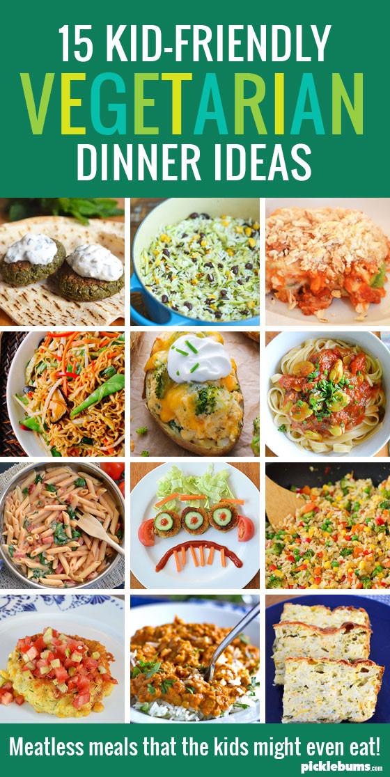 Easy Healthy Kid Friendly Dinners  15 Kid Friendly Ve arian Dinners Picklebums