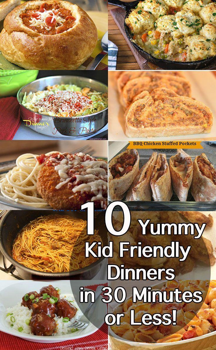 Easy Healthy Kid Friendly Dinners  Best 30 Minute Dinner Recipes Easy Midweek Meals