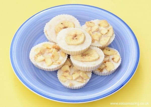 Easy Healthy Kid Recipes  Easy Recipes for Kids Frozen Banana Yoghurt Bites Eats