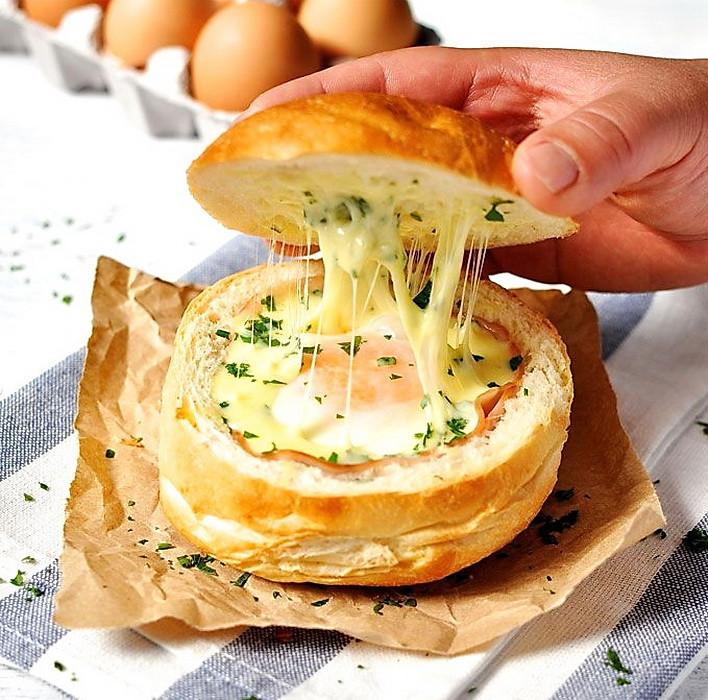 Easy Healthy Kid Recipes  Hams Egg Cheesy Bread Roll – Quick Healthy Kid Camping