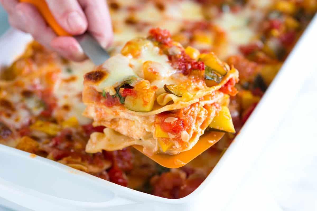 Easy Healthy Lasagna Recipe  healthy ve able lasagna