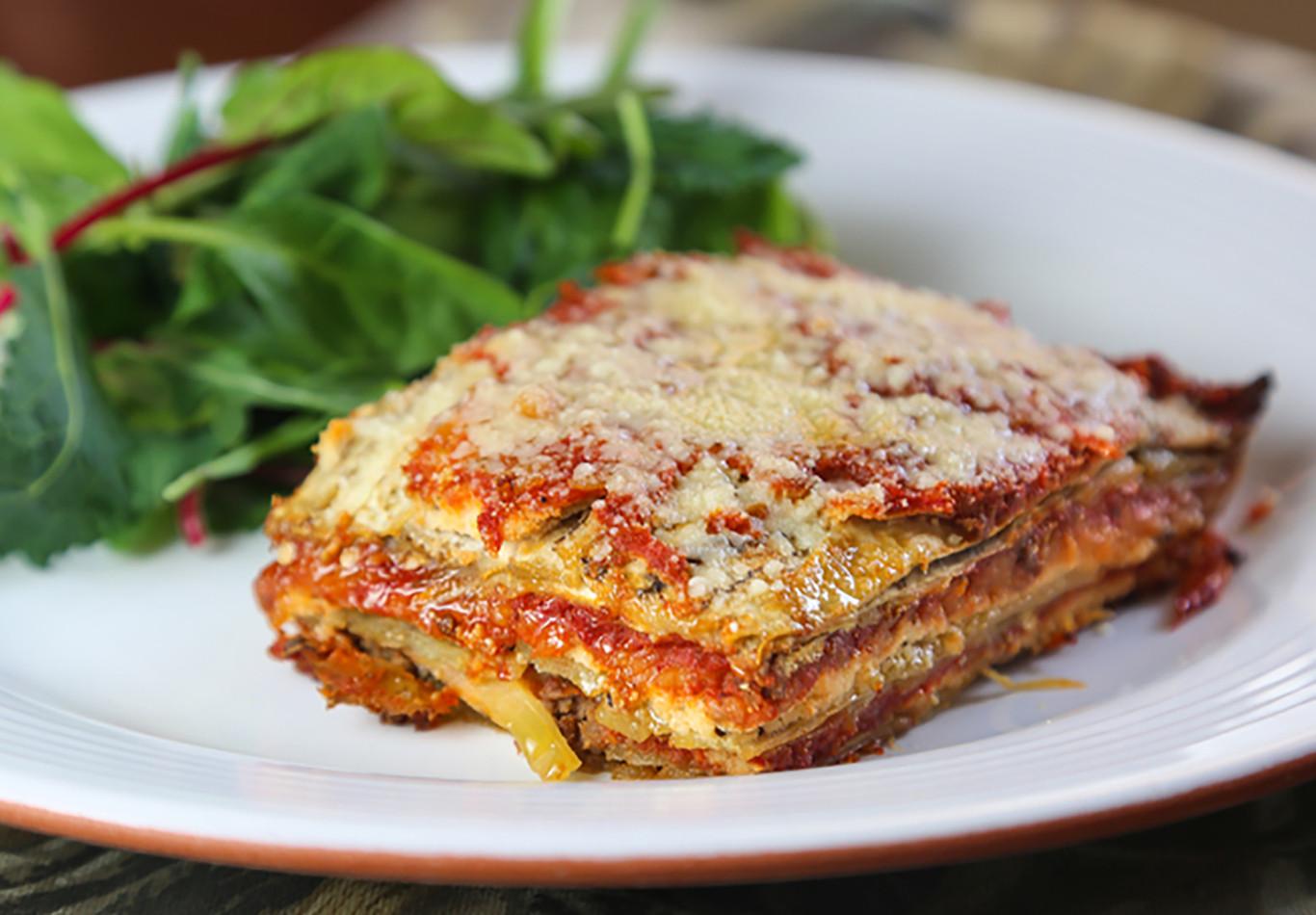 Easy Healthy Lasagna Recipe  Paleo Venison and Eggplant Lasagna Recipe