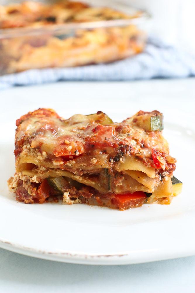 Easy Healthy Lasagna Recipe  Ve able Lasagna Recipe Easy & Healthy Happy Healthy
