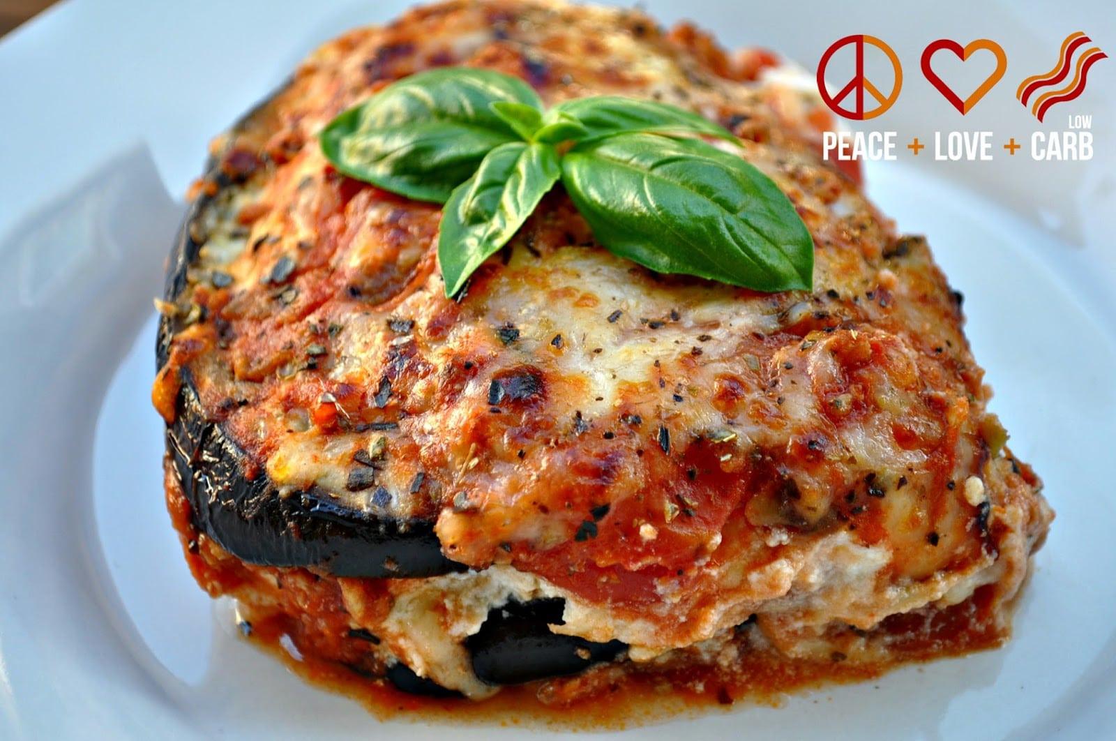 Easy Healthy Lasagna Recipe  Eggplant Lasagna with Meat Sauce Low Carb Lasagna