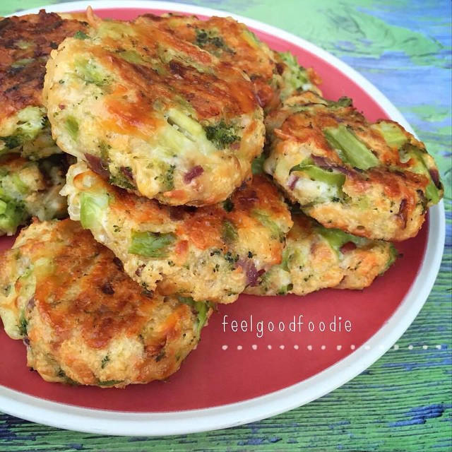 Easy Healthy Low Carb Recipes  Low carb broccoli & cheese patties Follow for easy