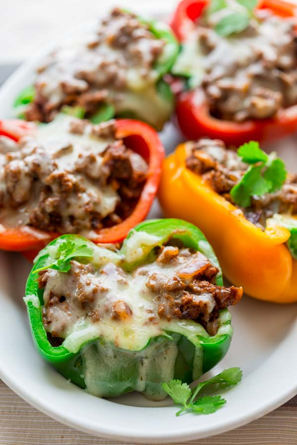 Easy Healthy Low Carb Recipes  low carb mexican stuffed peppers Healthy Seasonal Recipes