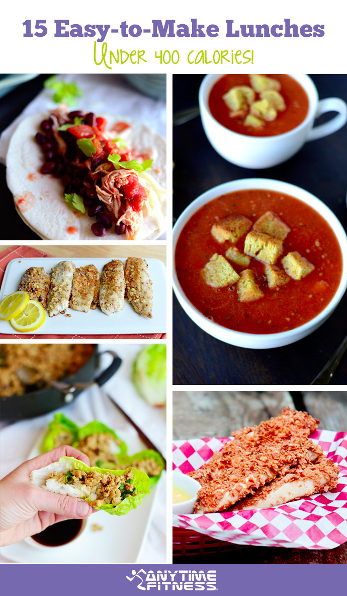 Easy Healthy Lunches To Make  15 Easy to Make Lunches Under 400 Calories