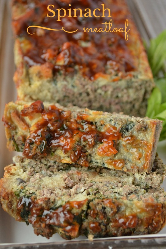 Easy Healthy Meatloaf Recipe  Healthy Recipe for Kids Spinach Mushroom Meat Loaf