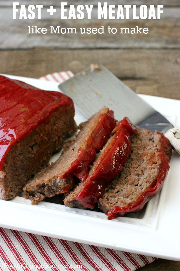 Easy Healthy Meatloaf Recipes  25 best ideas about Easy Meatloaf on Pinterest
