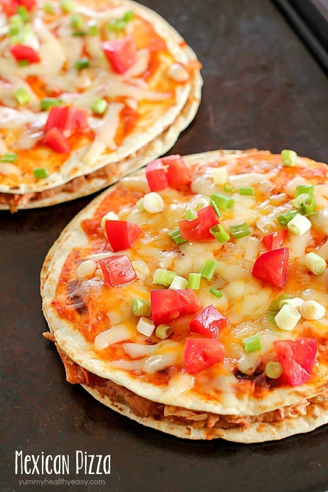 Easy Healthy Mexican Recipes  Mexican Pizza Ultimate Cookbook Giveaway Yummy