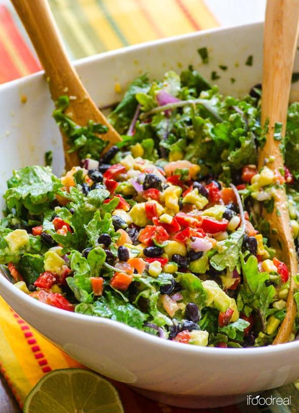 Easy Healthy Mexican Recipes  Vegan Kale Salad Recipes