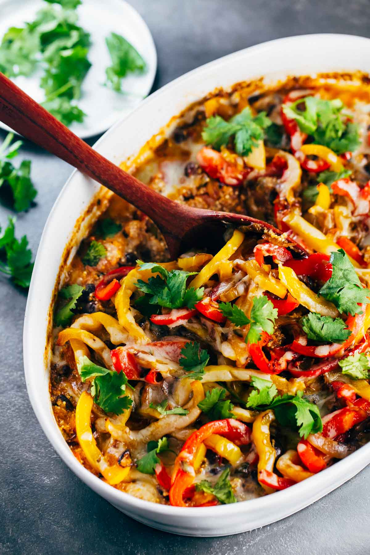 Easy Healthy Mexican Recipes  Easy Mexican Chicken Quinoa Casserole Recipe Pinch of Yum