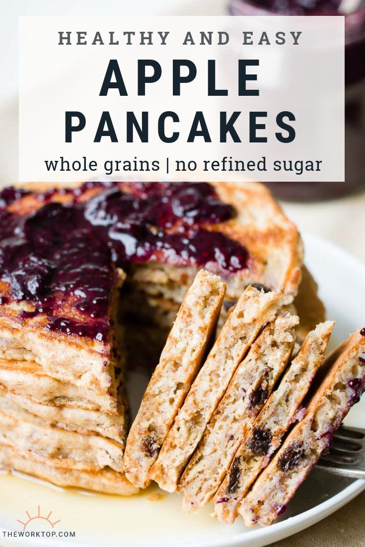 Easy Healthy Pancakes  Healthy Apple Pancakes Easy Homemade Recipe