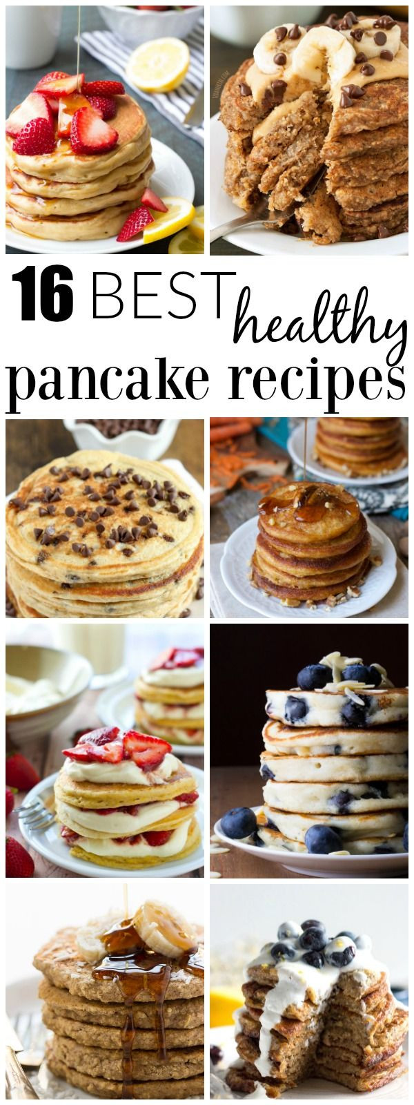 Easy Healthy Pancakes  The best healthy pancake recipes perfect for a weekend