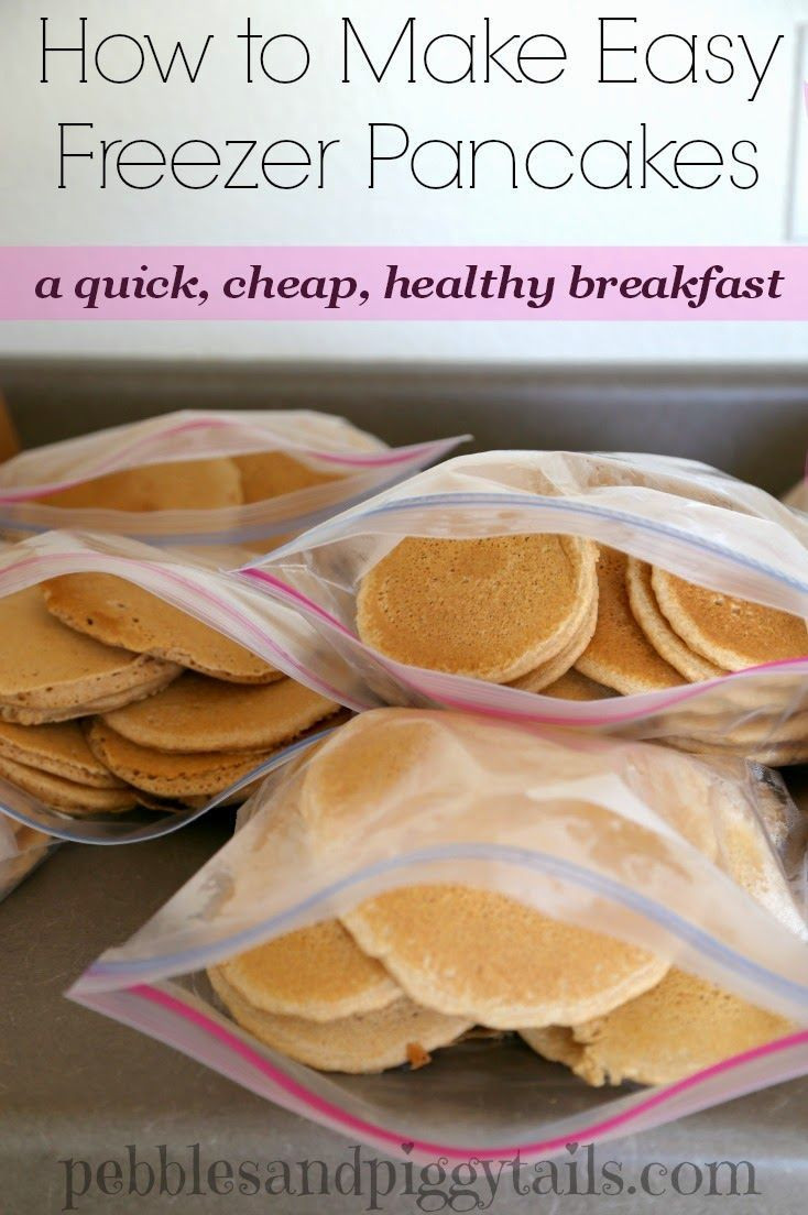 Easy Healthy Pancakes  How to Make Easy Freezer Pancakes A quick cheap healthy