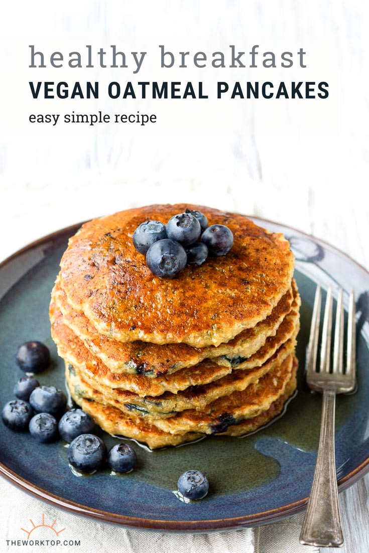 Easy Healthy Pancakes  Vegan Oatmeal Pancakes Easy No Egg No Milk