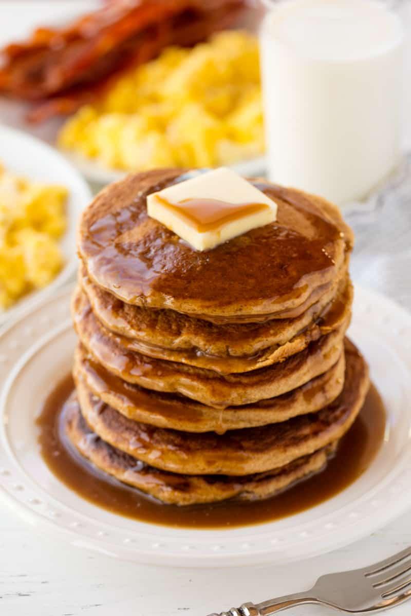 Easy Healthy Pancakes  Healthy Whole Wheat Pancakes