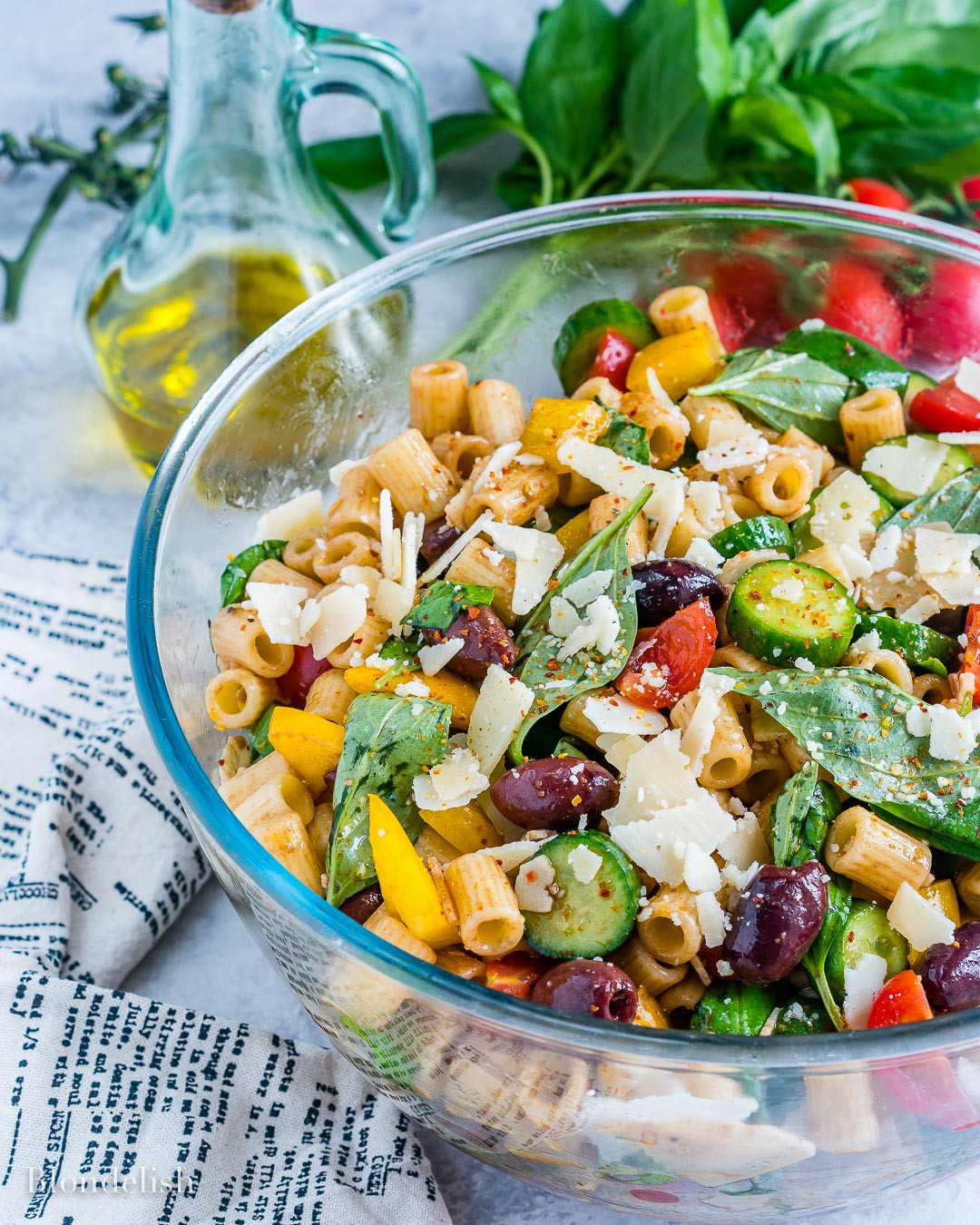 Easy Healthy Pasta Salad  Healthy and Easy Mediterranean Pasta Salad