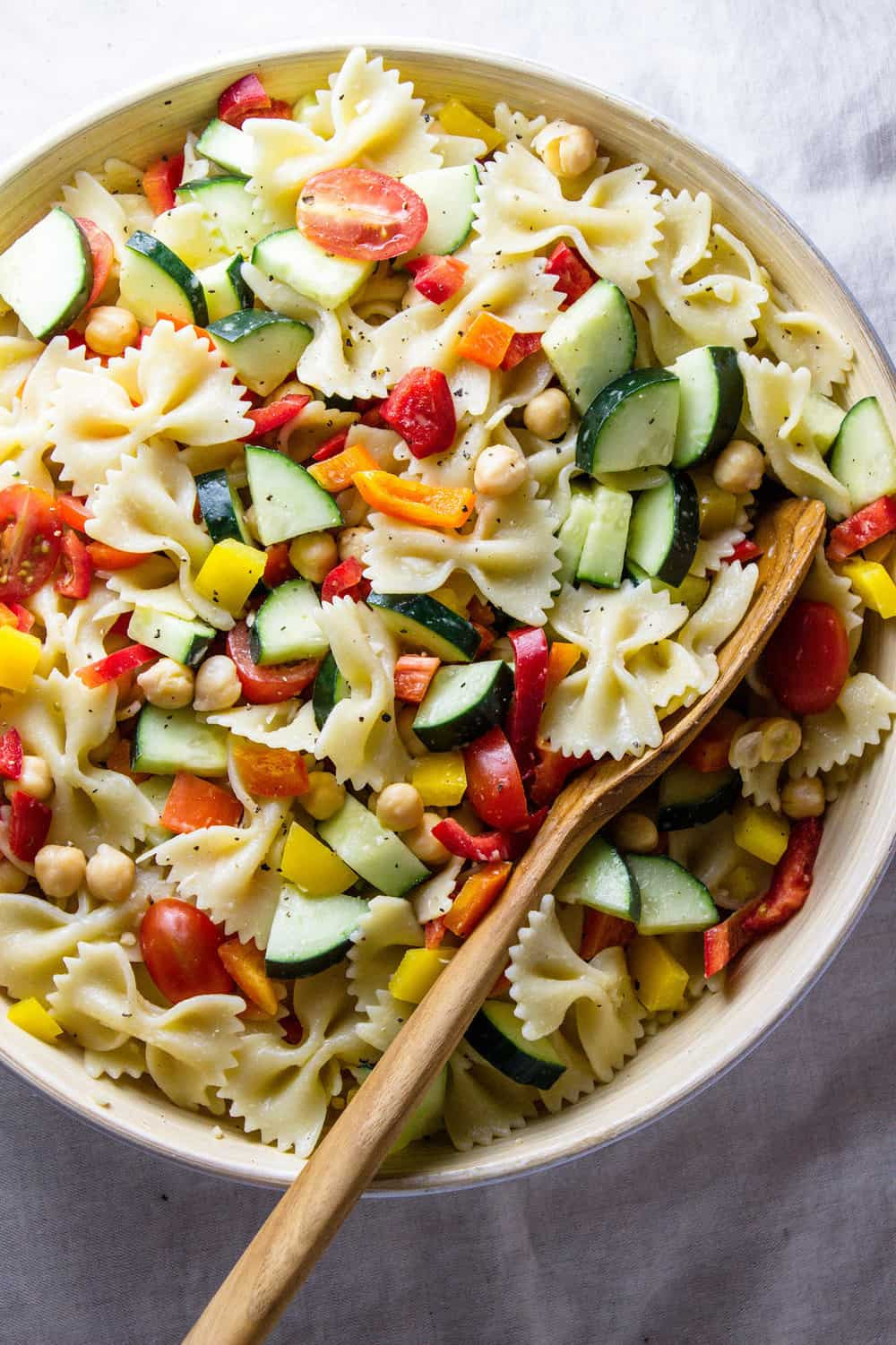 Easy Healthy Pasta Salad  QUICK N HEALTHY CHICKPEA VEGETABLE PASTA SALAD THE