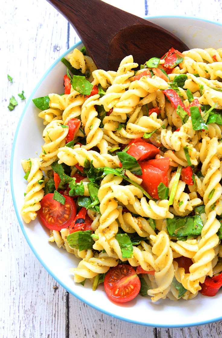 Easy Healthy Pasta Salad  5 Ingre nt Healthy Pasta Salad