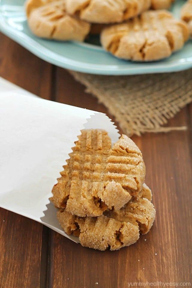 Easy Healthy Peanut Butter Cookies  Healthier Easy Peanut Butter Cookies Yummy Healthy Easy