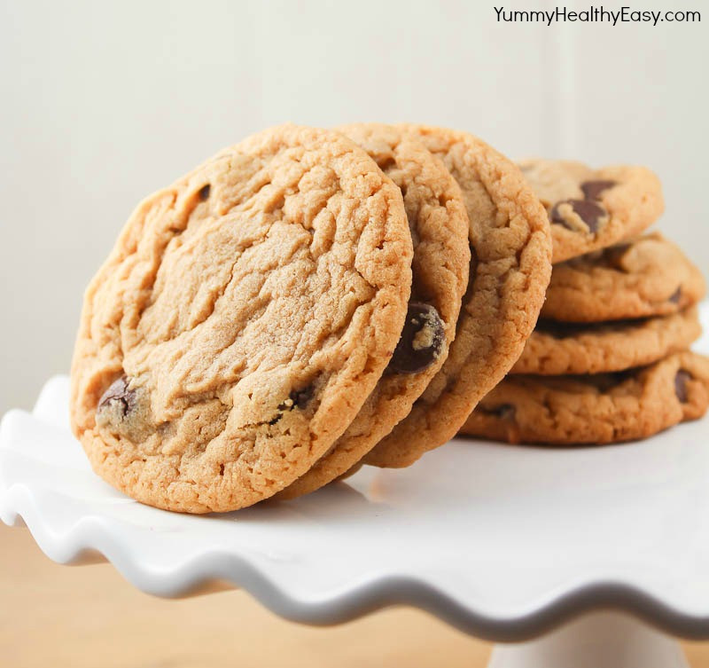 Easy Healthy Peanut Butter Cookies  Peanut Butter & Chocolate Chip Cookies Yummy Healthy Easy