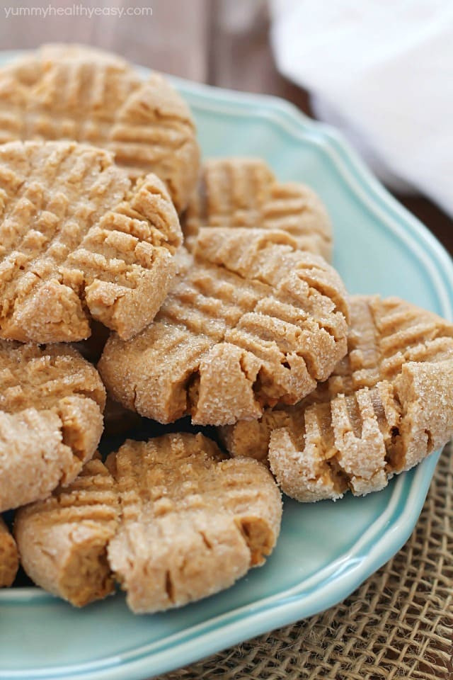 Easy Healthy Peanut butter Cookies Best 20 Healthier Easy Peanut butter Cookies Yummy Healthy Easy