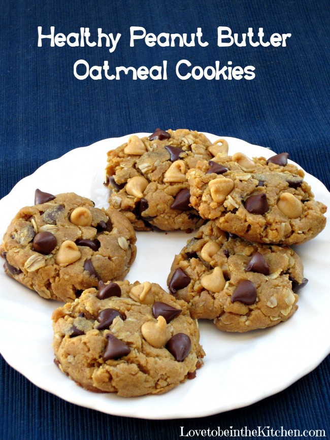 Easy Healthy Peanut Butter Cookies  healthy peanut butter oatmeal cookies