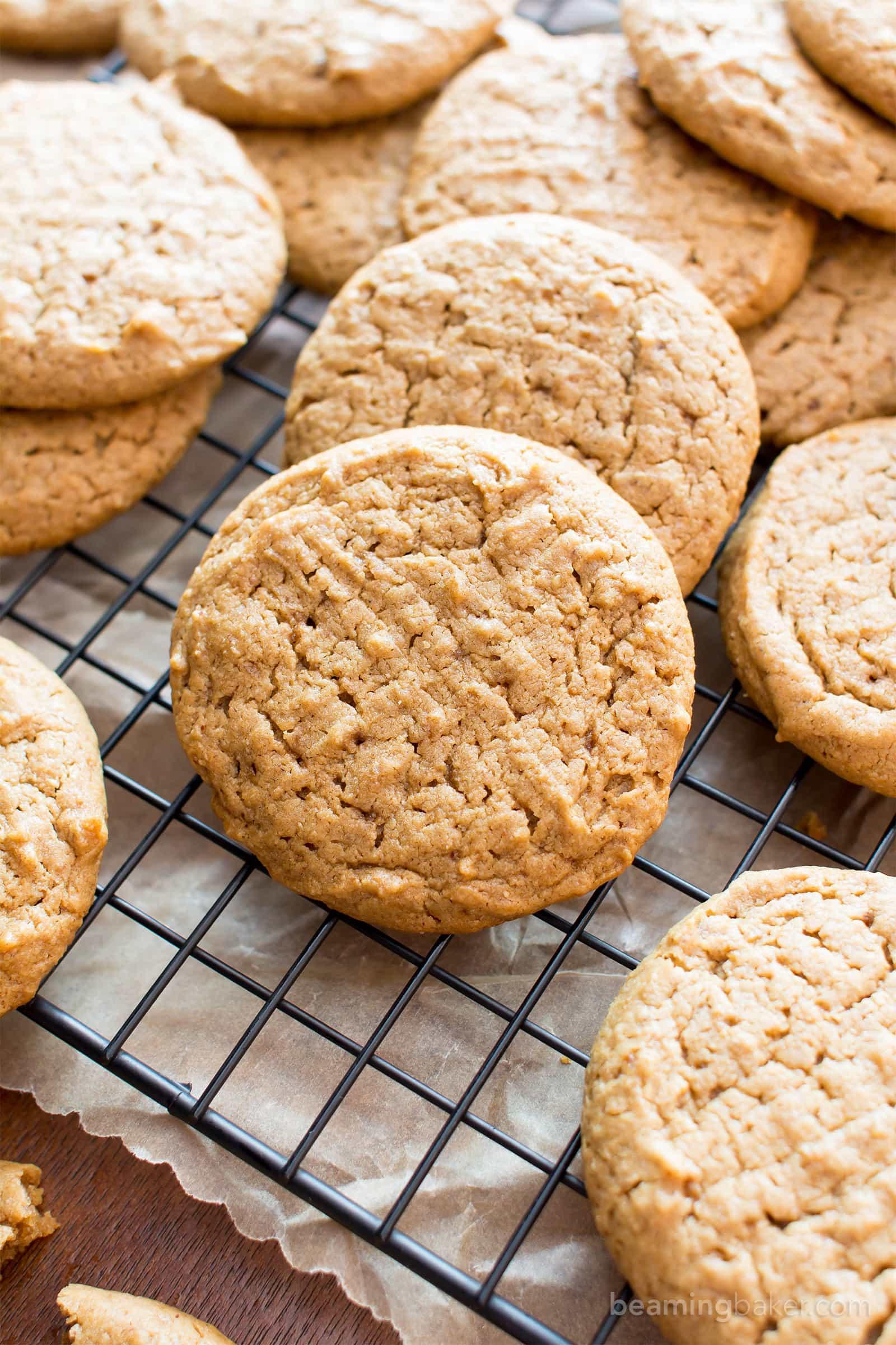 Easy Healthy Peanut Butter Cookies  Easy Vegan Peanut Butter Cookies Gluten Free Healthy V