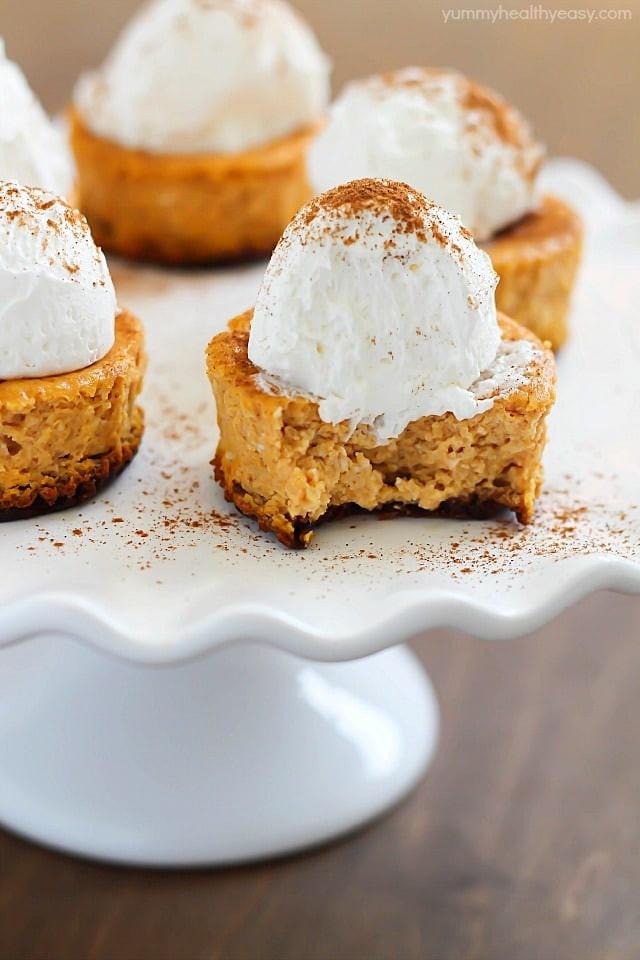 Easy Healthy Pumpkin Desserts  Mini Pumpkin Cheesecakes Yummy Healthy Easy