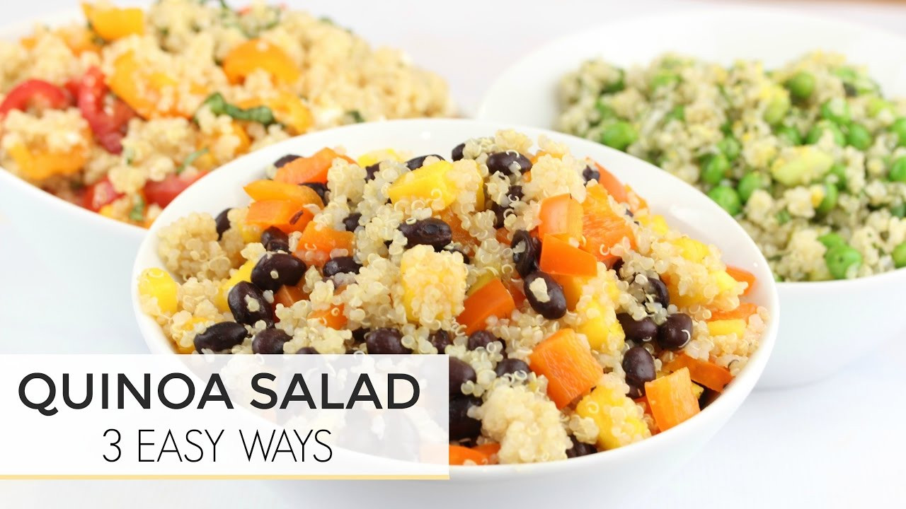 Easy Healthy Quinoa Recipes  3 Easy Healthy Quinoa Salad Recipes