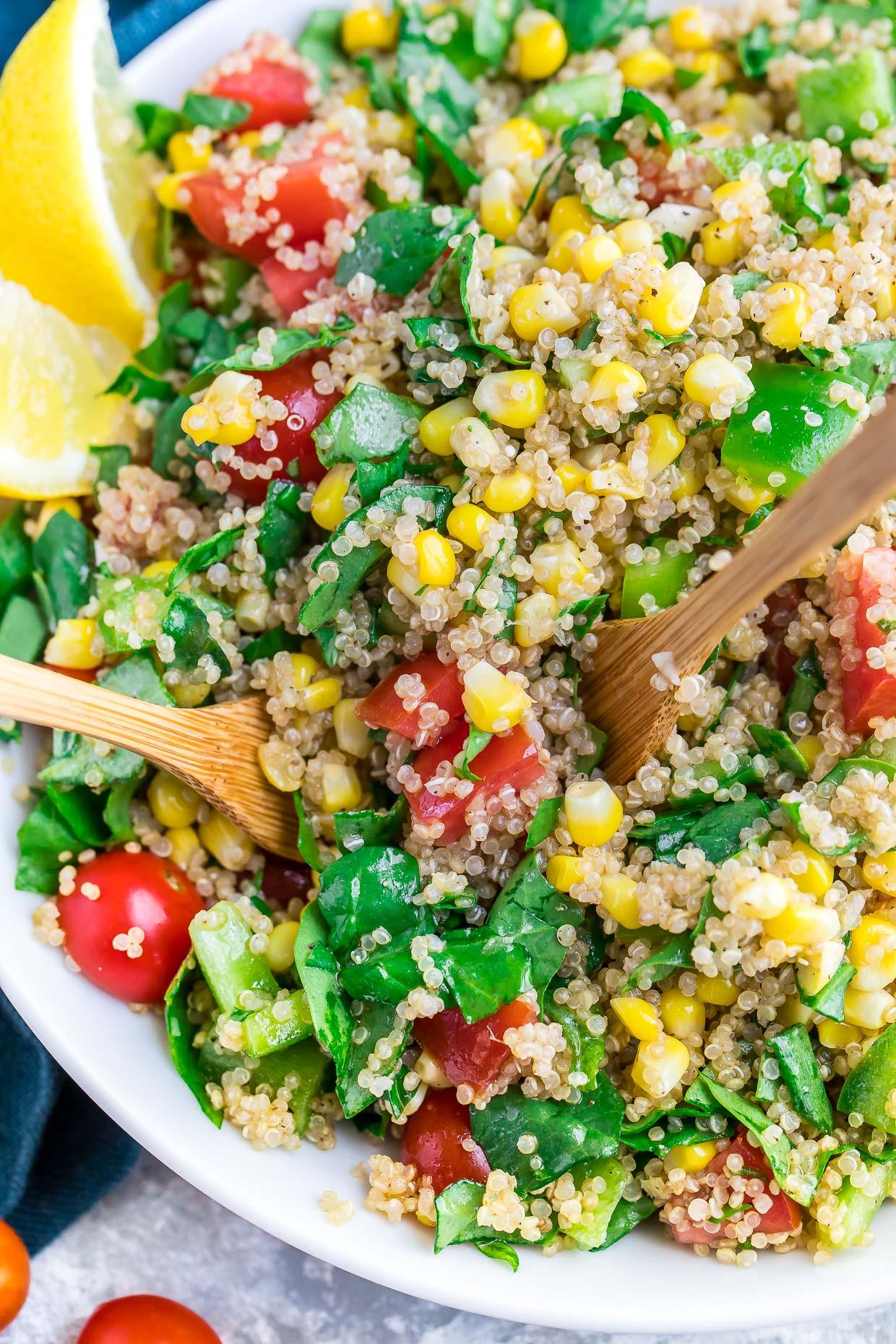 Easy Healthy Quinoa Recipes  Garden Veggie Quinoa Salad Recipe Peas and Crayons