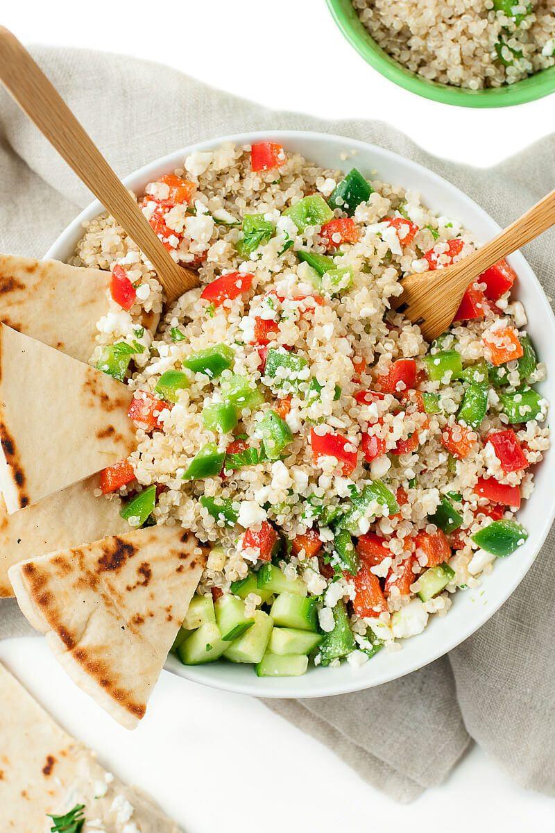 Easy Healthy Quinoa Recipes  Greek Quinoa Bowls Healthy Ve arian Grain Bowls Peas