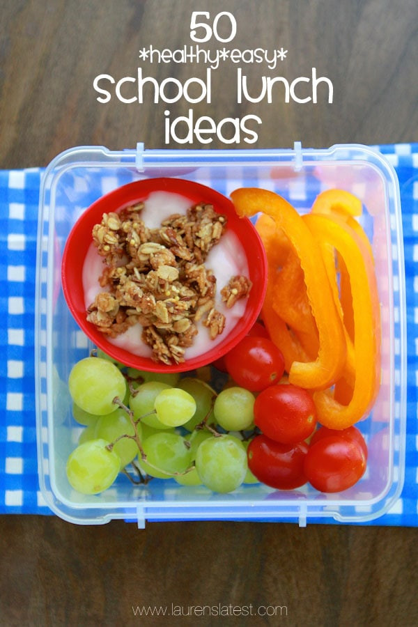 Easy Healthy School Lunches  Lunch Ideas For First Graders iheart organizing back to