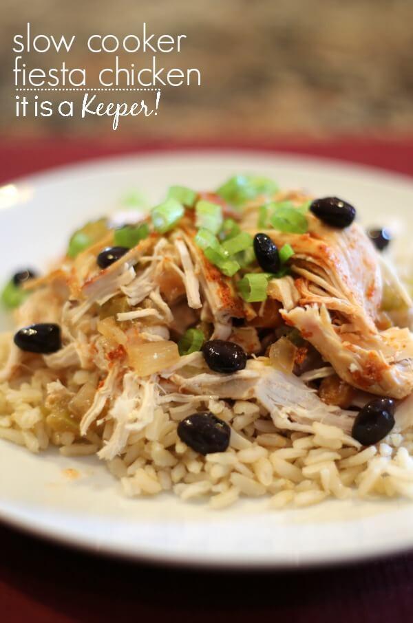 Easy Healthy Slow Cooker Chicken Recipes  Slow Cooker Fiesta Chicken