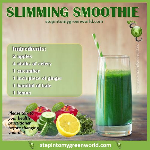 Easy Healthy Smoothie Recipes For Weight Loss  A super easy slimming kale smoothie Not only will it