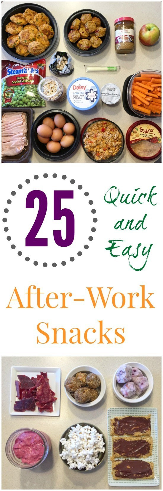 Easy Healthy Snacks For Work  Healthy Snack Ideas