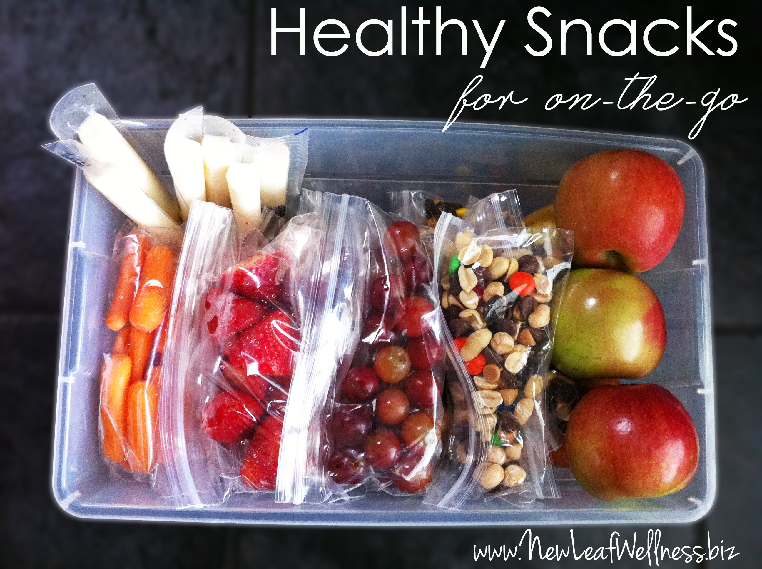 Easy Healthy Snacks On The Go  Simple healthy snacking – New Leaf Wellness