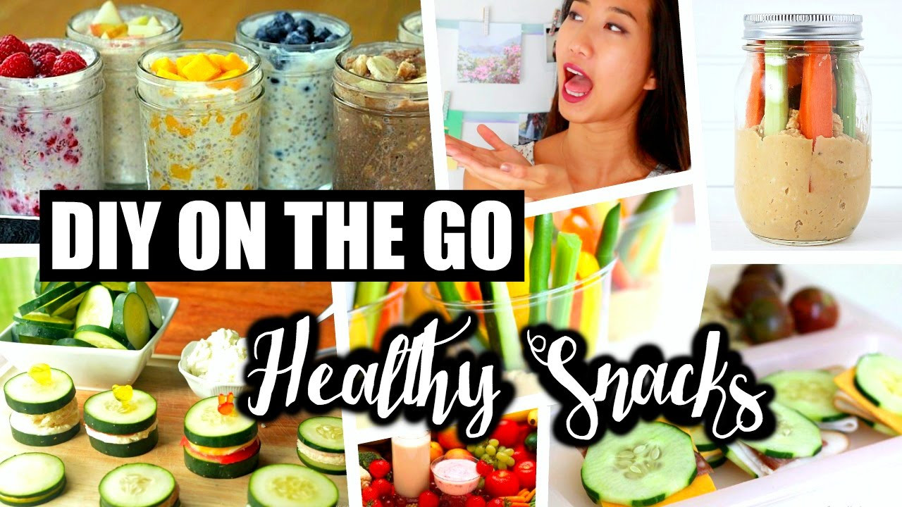 Easy Healthy Snacks On The Go  DIY HEALTHY SNACKS ON THE GO QUICK AND EASY